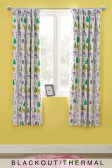 Princess Castle Blackout Pencil Pleat Curtains
