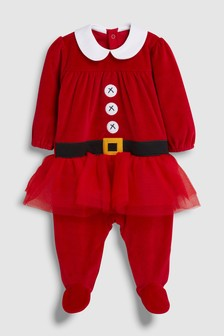 Babies Christmas Tutu Dress Up Sleepsuit (0mths-2yrs)