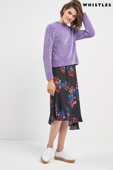Whistles Freya Print Asymmetric Skirt