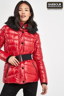 Barbour® International Premium Red Marleigh Quilt Jacket