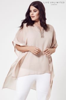 Live Unlimited Blush Trimmed Kaftan