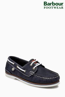 Barbour® Navy Suede Bowline Boat Shoe
