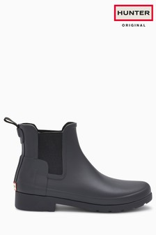 Hunter Originals Black Matte Chelsea Boot Welly
