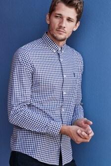 Long Sleeve Check Poplin Shirt