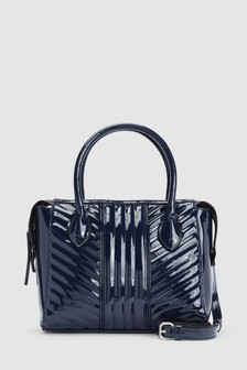Patent Quilted Tote