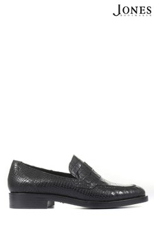 Jones Bootmaker Black Chiswick Leather Ladies Penny Loafers