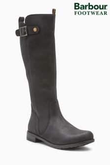 Barbour® Black Leather Zip Rebecca Tall Boot