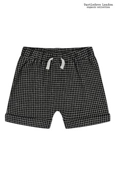 Turtledove London Black Grid Jersey Short