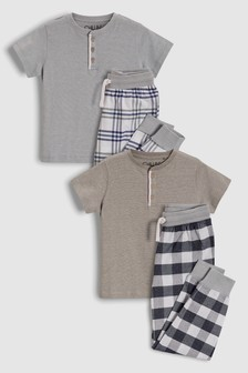 Pack de dos pijamas con tejido de cuadros (3-16 meses)