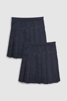 מארז שתי חצאיות ארוכות עם קפלים (גילאי 3 עד 16)