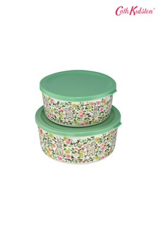 Set of 2 Cath Kidston® Climbing Blossom Bamboo Lunch Boxes