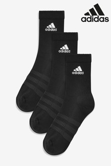 adidas Adult Black Crew Socks Three Pack