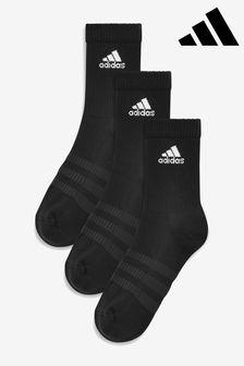 Lot de trois paires de chaussettes adulte adidas noires