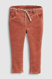 Belted Cord Skinny Trousers (3mths-6yrs)