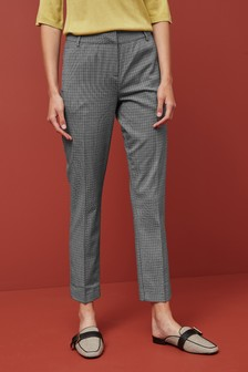 Monochrome Check Slim Trousers