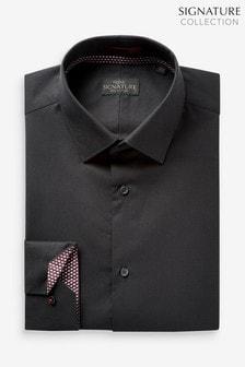 Signature Shirt with Geometric Trim