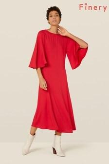 Finery London Red Nadia Satin Dress