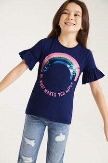 F&F Rainbow Sequin T-Shirt
