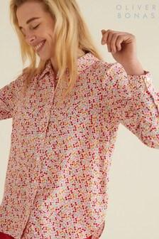 Oliver Bonas Pink Cherry Print Shirt