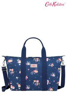Cath Kidston® Blue Navy Busby Bunch Foldaway Overnight Bag