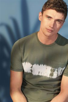 Tie Dye T-Shirt With Pocket Graphic