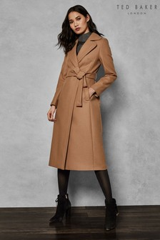 Ted Baker Light Pink Wrap Wool Coat