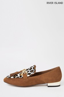 River Island Leopard Print Snaffle Loafer