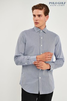 Ralph Lauren Polo Golf White Blue Stripe Shirt