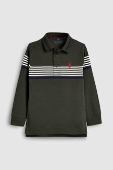 Рубашка поло в полоску (3-16 лет)