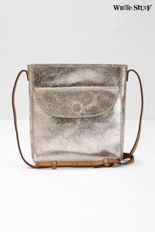 White Stuff Metallic Mimi Leather Cross Body Bag