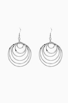 Multi Circle Drop Earrings