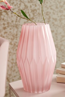 Pleated Glass Vase