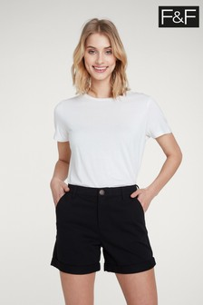 F&F Black Chino Short