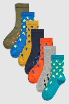 Stars Socks Seven Pack (Older)