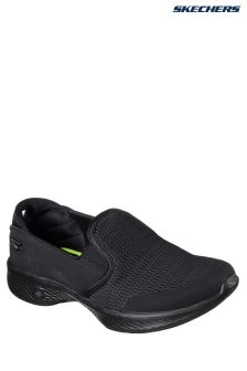 Skechers® Black Go Walk 4 Attuned Black Twin Gore Slip-On