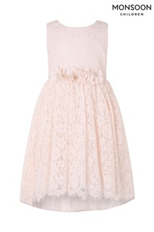 Monsoon Pale Pink Lucia Lace Dress