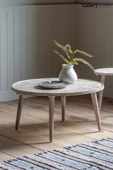 Agra Natural and White Coffee Table By Hudson Living
