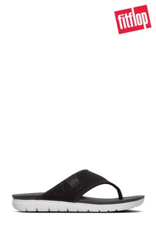 FitFlop™ Black Mesh Alana Toe Post