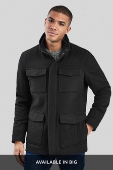 Four Pocket Wool Coat