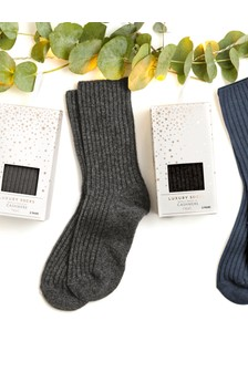 Touch Of Cashmere Socks In A Box Two Pack