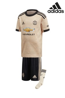 adidas Cream Manchester United Football Club 2019/2020 Away Kit