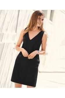 Sukienka z ozdobnym suwakiem z tkaniny ponte