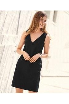 Zip Detail Ponte Dress