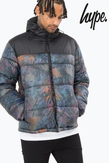 Hype. Leaf Print Quilted Jacket