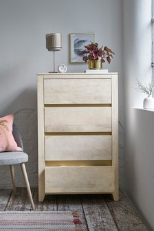 Amsterdam Light 4 Drawer Tall Chest