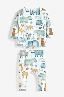 Animal T-Shirt And Leggings Set (0mths-2yrs)