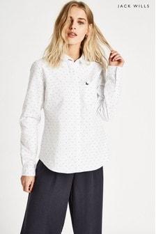 Jack Wills White Homefore Dobby Oxford Classic Fit Shirt