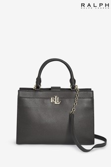 Ralph Lauren Black Laine Satchel Bag