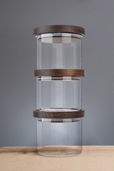 Set of 3 Artisan Street Stacking Storage Jar Set