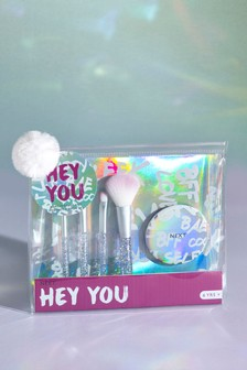 Hey You Brush And Mirror Set